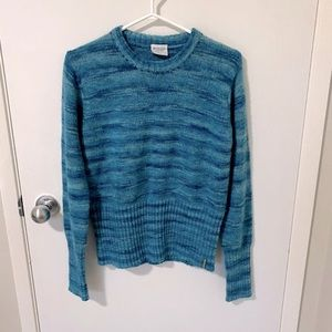 Columbia Crew Neck Wool Blend Sweater, Blue Marled